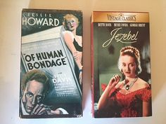 Lot of 2 Jezebel and Of Human Bondage  VHS by MsStreetUrchin