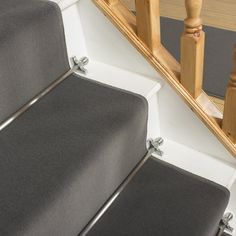Plain L. Grey Stair Carpet Runner - Free delivery on orders over & 30 day return guarantee from Carpet Runners UK. Grey Stair Carpet, White Carpet, Patterned Carpet, Neutral Carpet, Fur Carpet, Wall Carpet, Bedroom Carpet, Carpet Decor, Mohawk Carpet