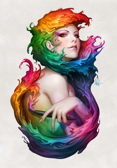 Angel of Colors by `Artgerm on deviantART