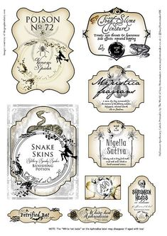Halloween Apothecary with 9 FREE potion bottle labels Kostenlose Halloween Apotheker Trank Flaschenetiketten Halloween Apothecary Labels, Halloween Bottle Labels, Halloween Potions, Apothecary Bottles, Antique Bottles, Vintage Bottles, Retro Halloween, Holidays Halloween, Halloween Crafts