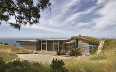 Green Roof + - sustainable architecture in Big Sur Ca. designed by Carver & Schicketanz Architects