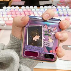 Kpop Phone Cases, Girly Phone Cases, Diy Phone Case, Phone Covers, Iphone Cases, Korean Phones, Violet Aesthetic, Aesthetic Phone Case, Flip Phones