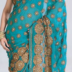So pretty love the turquoise with the gold..
