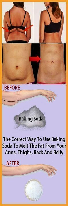 The Correct Way To Use Baking Soda To Melt The Fat From Your Arms, Thighs, Back ...