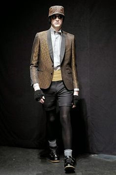 Men Wearing Tights Under Shorts: Obedient Sons, 2008