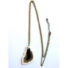 Agate Necklace Black and White real by OBijouxdAudrey on Etsy