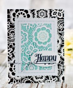 Happy Birthday Card by Betsy Veldman for Papertrey Ink (April 2017)