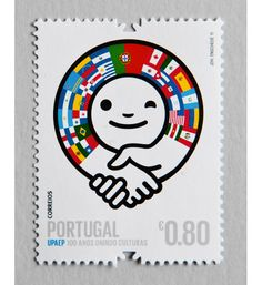 Postage stamp by Ze Cardoso - a designer, illustrator and artist hailing from Oporto, Portugal.