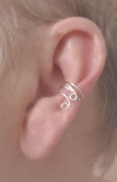 NEW Ear Cuff  Tiny Double Curl  Wear Up or Down by TheLazyLeopard, $12.00
