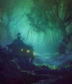 "Morrigan ""black marshes"" by Hamsterfly"