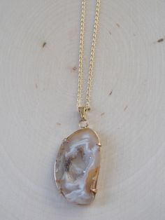 Geode Necklace on a Gold Filled Chain: Geode Slice Necklace, Geode Slice Jewelry, Geode Jewelry, Amethyst Geode, Geode Slice Pendant, Geode by MalieCreations on Etsy