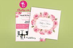 Kad Kahwin Floral 47 | Kad kahwin murah | kad kahwin cantik | pakej kad kahwin | kad kahwin pink | kad kahwin bunga | wedding card | Jemputan Kahwin | Kad kahwin 6x6