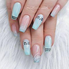French Acrylic Nails, Cute Acrylic Nails, Acrylic Nail Designs, Gel Nails, Cute Nail Designs, Pastel Nail Art, Short Almond Nails, Nagellack Design, Acylic Nails