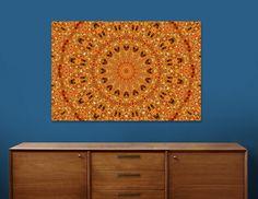 Christmas Bows II Mandala, Limited Edition Canvas Print by Janusian Gallery
