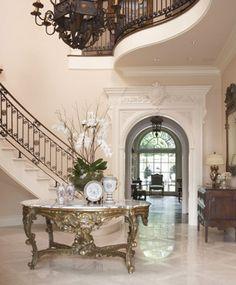 Italianate foyer.