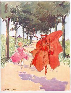 """""""Alice au pays des merveilles"""" - Lewis Carroll - illustrations André Pécoud. Ed Librairie Delagrave, 1950"""
