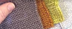 When knitting a garment in the garter stitch, the edges don't always look as good as they could. Learn how to knit tidy garter stitch edges.