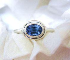 Simple Oval Tanzanite Ring
