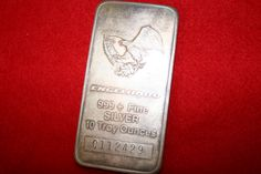 10 oz engelhard fine .999 silver bar. Available at www.etsy.com/shop/pasttimejewelry