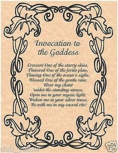 Invocation To the Goddess | Witches Of The Craft®