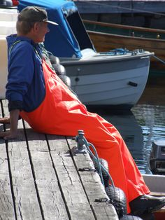 Fisherman in Lillesand Norway