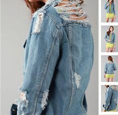 разодранные джинсовки