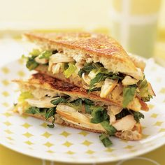 It's a salad in a sandwich! Try this chicken recipe for a quick dinner that even the kids will like.