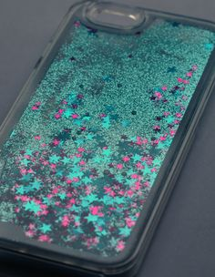 The LIQUID GLITTER Case BLUE iPhone 6 by ANTIapparel on Etsy