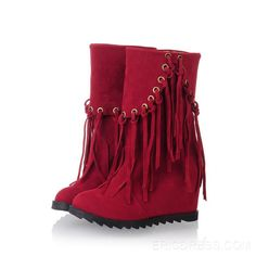 New Fall Sweet Tassels Warm Ankle Boots  Ankle Boots