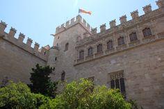 La Lonja de Valencia. Vista desde El Pati dels Taronjers