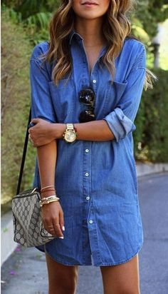 333abef0b14 This is such a beautiful casual dress. Love the cut and color. Would be · Denim  T ShirtDenim ...