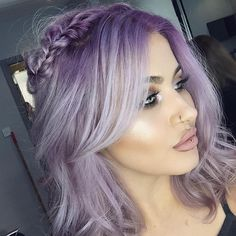 "JAMIE GENEVIEVE • SASSBOMB on Instagram: "" Lil lilac halo braid. Colour by @jackbaxter at @mesarthair. Style by @jasminemurphyhair at @onyx_makeup."""
