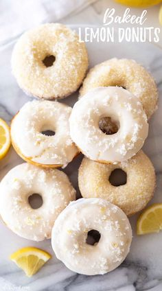 This easy Baked Lemon Donuts Recipe is made with simple pantry ingredients, is packed with bright, fresh lemon flavor, and topped with a lemon glaze. Buttermilk Recipes, Homemade Buttermilk, Homemade Donuts, Lemon Recipes, Donut Pan Recipe, Baked Donut Recipes, Easy Baking Recipes, Lemon Desserts, Delicious Desserts