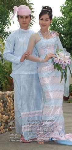 Burmese traditional wedding costumes