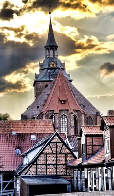 St. Michael church: the most famous church in Hamburg, Germany