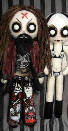 Rob Zombie & Sheri Moon dolls