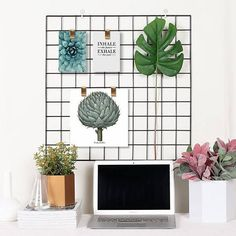 Multi functional: Our grid panel can be used as photo wall. You can clip your photos on this grid panel and hang it on the wall. Its great for wall Decor & storage. Also, can be regarded as Wall brackets, Message Board, or Memo Board in your desk. A nice tool in your work.Whats more, you can