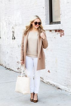 a574728dff9a5 10 Ways to Wear White Jeans for Fall & Winter