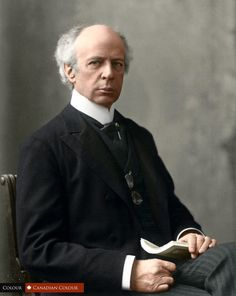 Sir Wilfrid Laurier, seventh Prime Minister of Canada, in 1906. Betcha $5 if you can name what $ bill he's on;)   (33 Colourized Photos That Make Canadian History Come To Life)