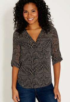 the perfect blouse in patterned print - #maurices