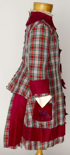 Adorable antique child's wool bustle outfit.   Circa 1880