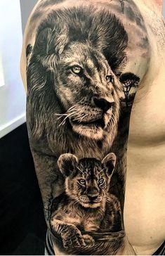 Ideas tattoo sleeve women animal men for 2019 – tattoo sleeve women Lion Head Tattoos, Mens Lion Tattoo, Forarm Tattoos, Shark Tattoos, Dad Tattoos, Animal Tattoos, Tattoos For Guys, Tatoos, Dad Daughter Tattoo