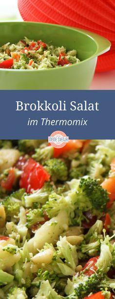 Brokkoli Rezept Salat - vegetarisch und gesund - und schnell gemacht. Im Thermomix 5 Sekunden/Stufe 3 - fertig!!!http://www.meinesvenja.de/2011/07/07/warum-salat-bei-mir-genau-5-sekunden-dauert/