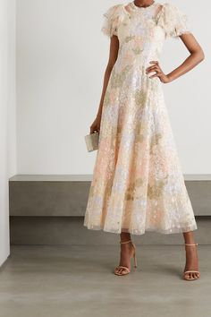Needle And Thread Dresses, Best Wedding Guest Dresses, Wedding Outfits, Tulle, Robes Midi, Pink Midi Dress, Midi Cocktail Dress, Haute Couture Fashion, Party Fashion