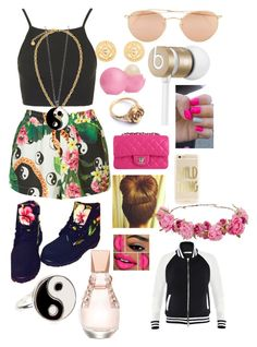 """Yin Yang & Gold Chains"" by faithlovesfash ❤ liked on Polyvore"