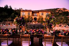 This is exactly the look I want for my wedding!  Villa Florentina | Inn and Retreat