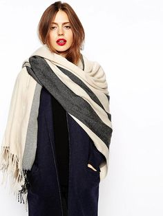 Buy ASOS Oversized Scarf With Stripes at ASOS. With free delivery and return options (Ts&Cs apply), online shopping has never been so easy. Get the latest trends with ASOS now. Asos, Best Gifts Under 50, Look Fashion, Winter Fashion, Bracelets Design, Outfit Invierno, Oversized Scarf, How To Wear Scarves, Winter Wear