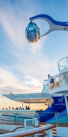 Anthem of the Seas | A one-of-a-kind glass observation capsule that gently rises more than 300 feet in the air, Royal Caribbean's NorthStar provides the most breathtaking, 360-degree views imaginable.
