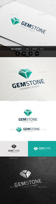 Gem Stone Game  Jewel Media Logo — Vector EPS #amber #rich • Available here → https://graphicriver.net/item/gem-stone-game-jewel-media-logo/10998775?ref=pxcr