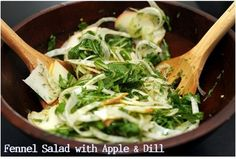 Fennel Salad with Apple and dill